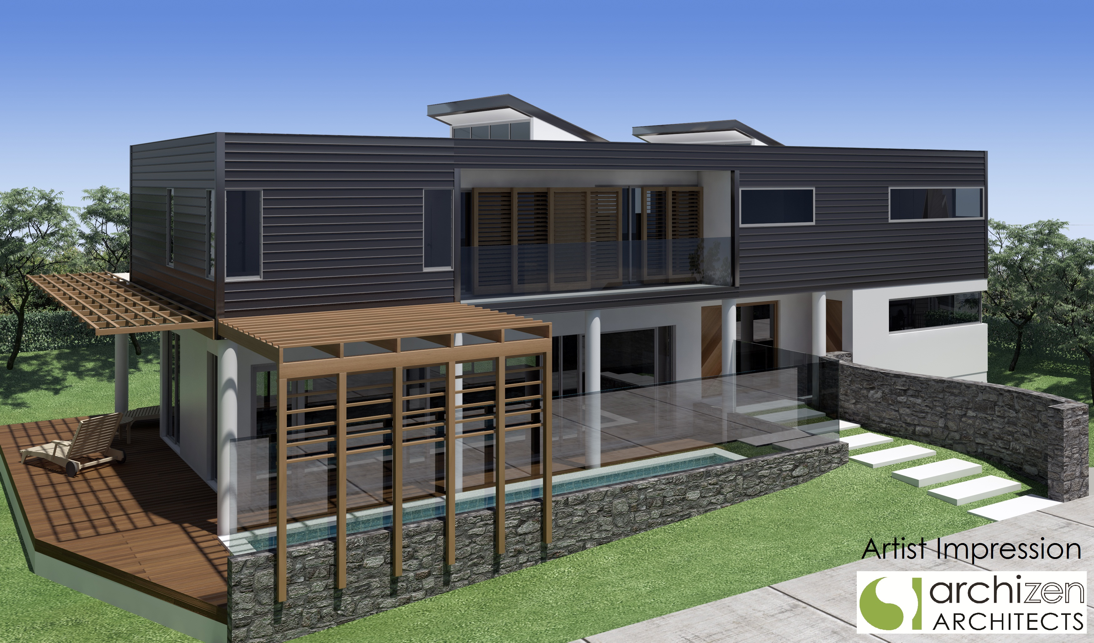Archizen_Architects_New Executive_Bayside_Home_Design_Connells_Point_NSW_2221_Kogarah Council