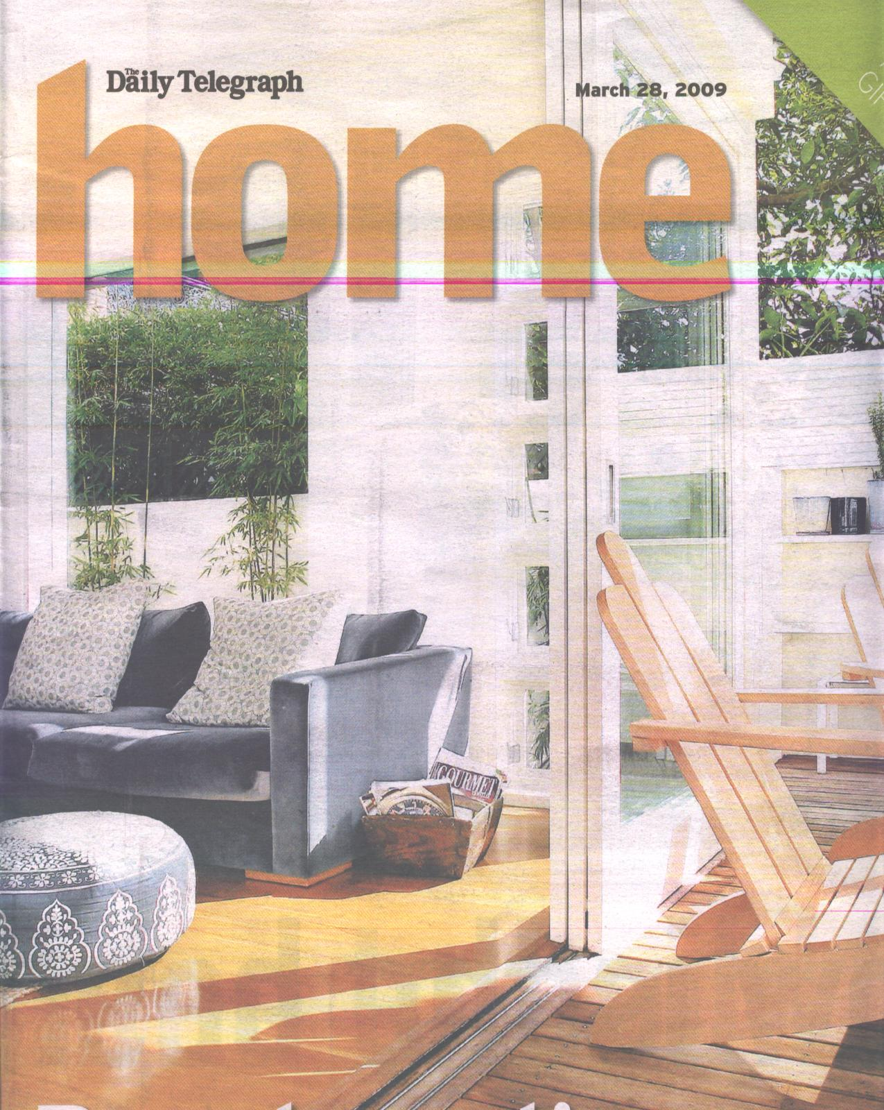 Daily Telegraph Home Magazine Archizen Architects New Home Development Narrow Difficult Small Site Architecture Sydney