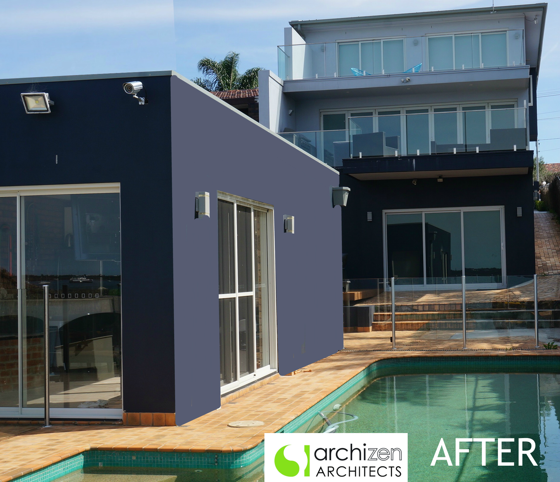 Water Front Modern Contemporary Renovation New Home Sydney Architects Archizen Design Taren Point Sutherland Shire Council Georges River
