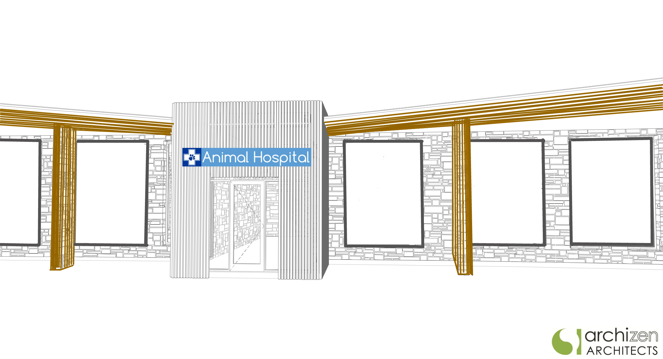 Veterinary Clinic Animal Hospital Architectural Design by Archizen Architects Boarding Kennels Pet Hotels