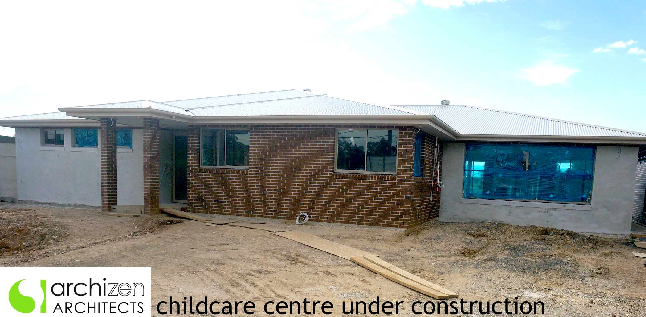 Sydney Archizen Architects childcare centre kindergarten OSHC Design Liverpool Council Long Day Care Centre Under Construction