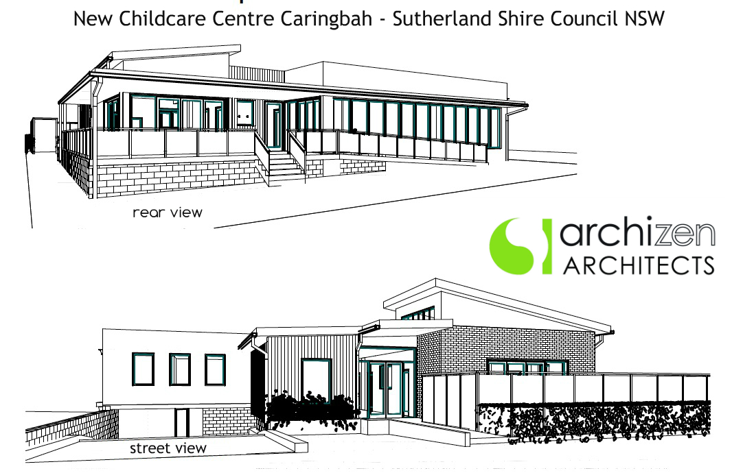 Archizen Architects New Childcare Centre Caringbah Sutherland Shire Council Pre Schools Early learning Centre Education architectural design Sydney Melbourne Perth Adelaide Brisbane