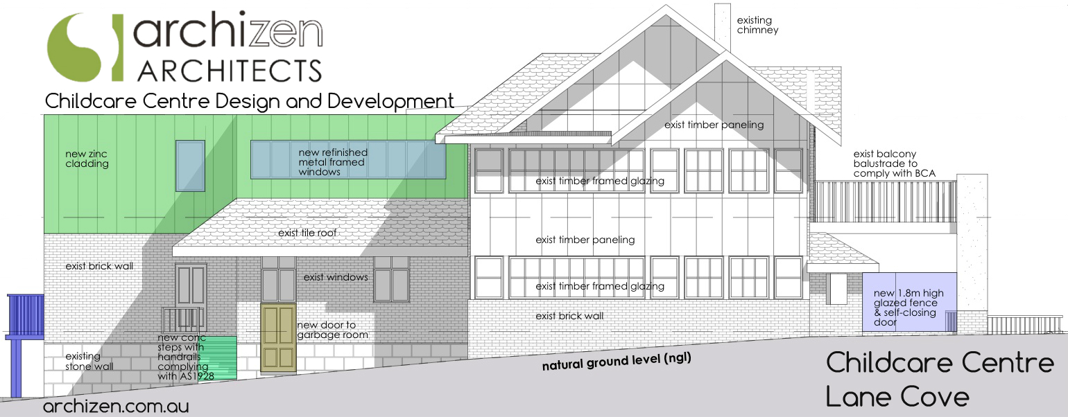 Lane Cove Childcare Architects Preschool Archizen North Sydney Kindergarten Willougby Council Ryde Rockdale Chatswood 4