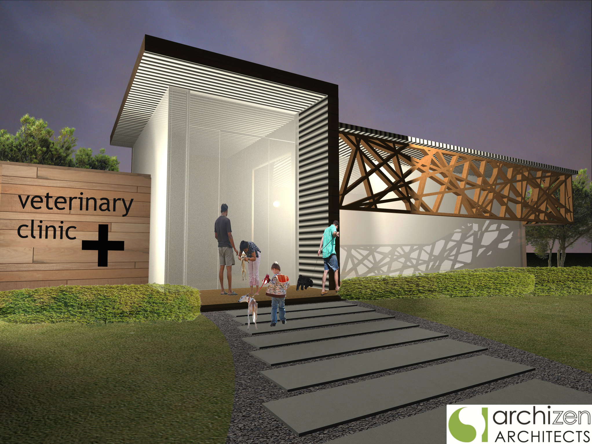 Archizen Architects Animal Hospital Veterinary Clinic Pet Hotel Puppy Preschool Boarding kennels Architectural Design Sydney NSW Brisbane QLD Melbourne VIC Australia NZ Tullamarine Airport Melbourne | Western Sydney Airport Badgerys Creek